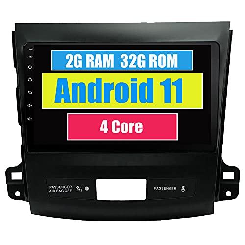 Roverone Android Système 8.1 dans Dash Navigation GPS de Voiture pour Mitsubishi Outlander 2007–2011 avec autoradio stéréo DVD SD USB écran Tactile système multimédia