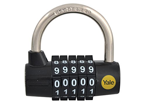 Yale Y160/48/123/1 Combination Padlock, 48mm, pack of 1, suitable for gates and garages