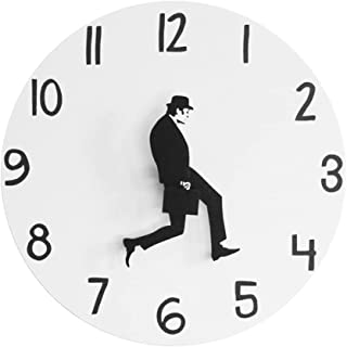 Comedy Inspired Ministry of Silly Walk Wall Clock Comedian Home Decor Novelty Wall Watch Funny Walking Silent Mute Clock