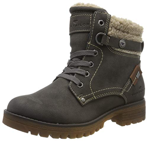 TOM TAILOR Damen 7991004 Stiefeletten, Grau (Coal 00013), 36 EU