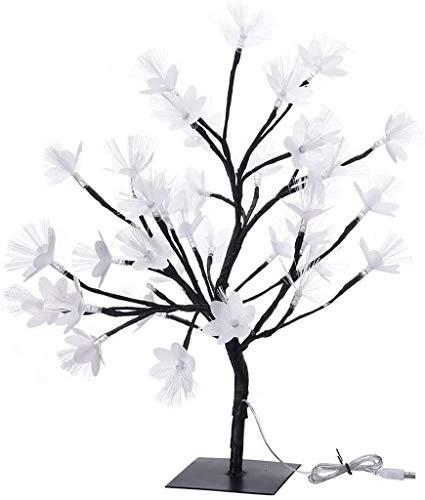 XXLYY Árbol de luz de Estrella 36LED, árbol de Flores de Fibra óptica, Rama Negra, decoración del hogar para decoración navideña, Interior y Exterior