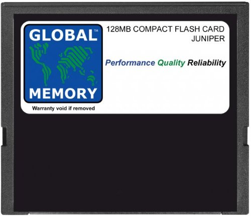 128 MB COMPACT FLASH CARD MEMORY VOOR JUNIPER J2300 / J4300 / J6300 SERIES ROUTERS (JX-CF-128M-S)