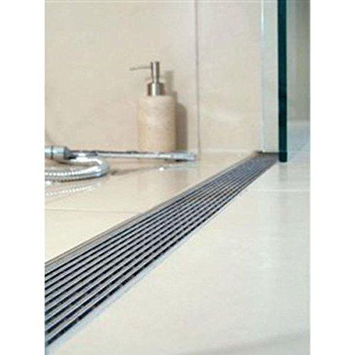 QuARTz by ACO 37425 Shower Drain SS Grate Linear, 1400mm