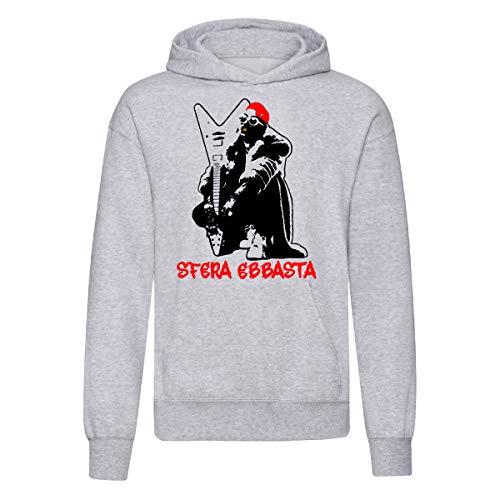 Art T-shirt, Sudadera con capucha Sfera Ebbasta para hombre gris L