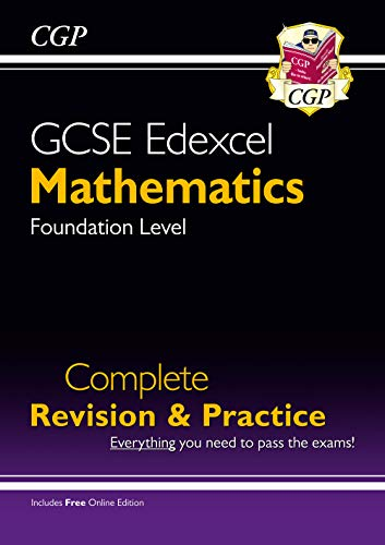 New GCSE Maths Edexcel Complete Revision & Practice: Foundation - Grade 9-1 Course (with Online Edn) (CGP GCSE Maths 9-1 Revision)