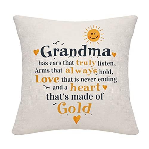 DANKHRA Grandma Gifts from Granddaughter Grandson Grandmother Throw Pillow...