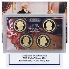 2007 S US MINT Presidential Proof Set Comes in original Packaging From the US Mint Proof