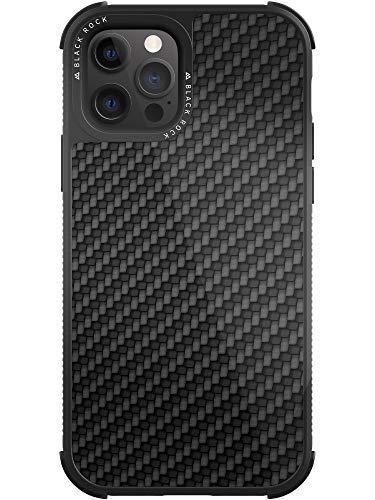 Black Rock - Hülle Robust Hülle Real Carbon passend für Apple iPhone 12/12 Pro | Karbon Handyhülle, Fiber Cover (Carbon Schwarz)
