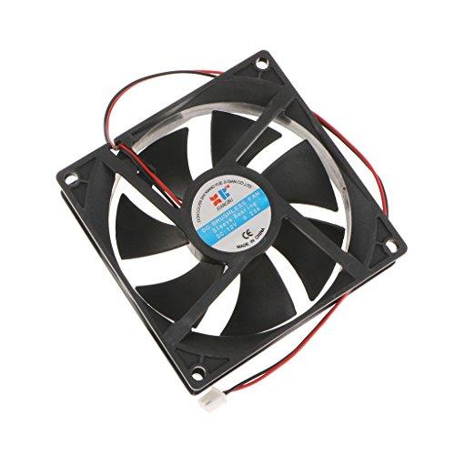 Homyl Ventilador de 8cm 2Pin para Fundas de PC Refrigerador de CPU Larga Vida de Baja Emisión de Refrigerante