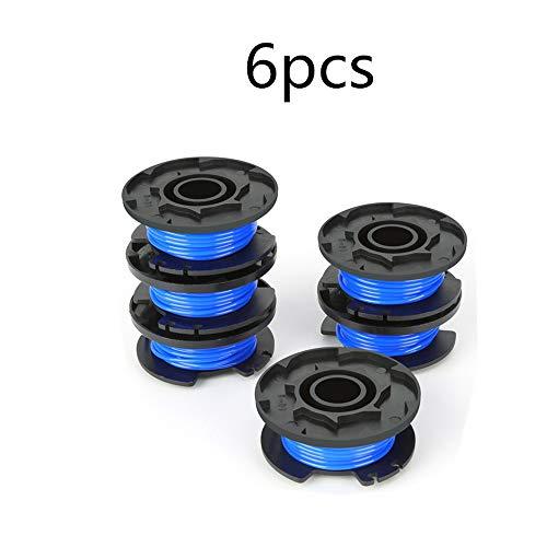 GZQ Line Débroussailleuse Bobine de Rechange 3,4 m 0,2 cm avec Capuchon de Tondeuse pour pour Ryobi 18 V 24 V sans Fil 40 V Trimmers Bleu