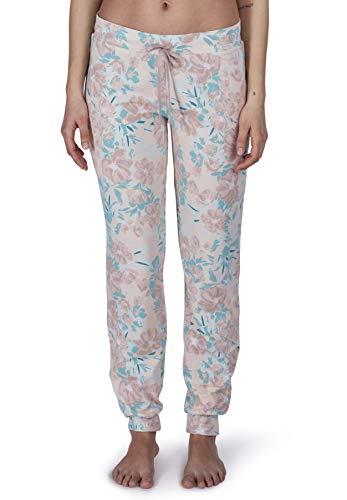 Skiny Damen Joy Sleep Hose lang Schlafanzughose, Mehrfarbig (Shell Flower 2144), 36