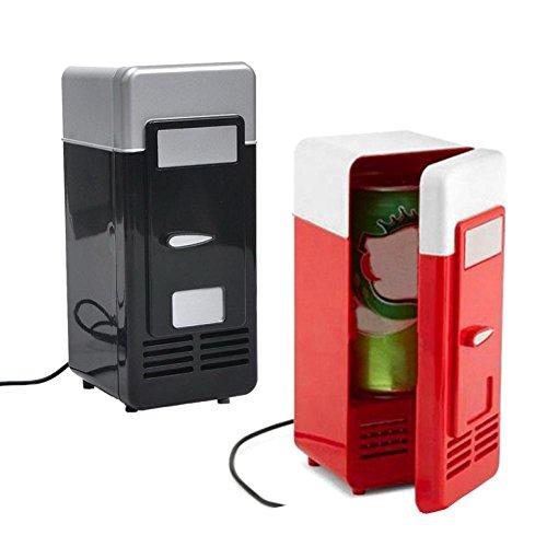 Welltobuy Mini Refrigerador y Enfriador para Calentador de Coche Refrigerador para Coche USB Mini Refrigerador con Frigorífico Calefacción Comida Caja Portátil de Hielo Portátil Eléctrica