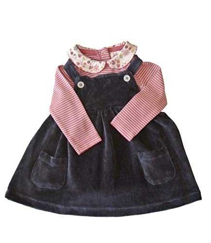 People Wear Organic babyset/jurk met body donkerblauw bio maat 62/68