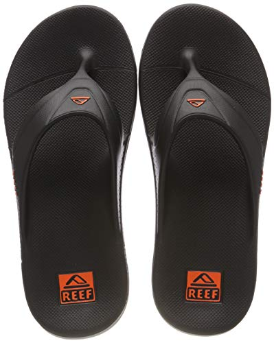 Reef Men's Sandals One | Waterproof, Dual Density Single Mold Flip Flops, Grey Orange, 13