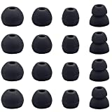 BLLQ Ear Tips Compatible with Beats Flex, Replacement Ear Buds Ear Cap Ear Plug Eartips for Beat s Flex Wireless Earbuds, 8 Pairs, Black