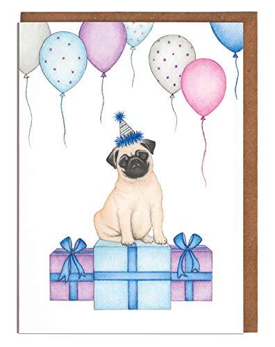 Lottie Murphy Mops-Geburtstagskarte – blanko Karte – Karte für Sie