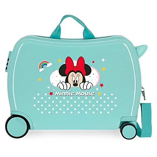 Disney Minnie Rainbow Maleta Infantil Verde 50x38x20 cms Rígida ABS Cierre de combinación Lateral 34L 2,98 kgs 4 Equipaje de Mano