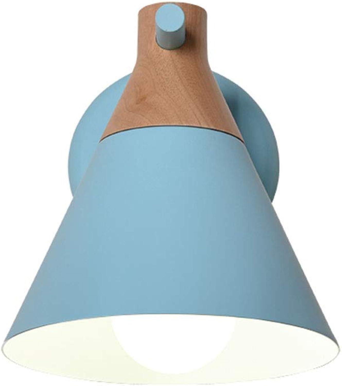 Wandleuchten Wandleuchte - Wandleuchte , Nordic Simple Wood Art Schmiedeeisen E27 MAX 5W , Schlafzimmer Nachttischlampe Lesen Kinderzimmer Nachtlicht (Farbe   A-Weiß light)