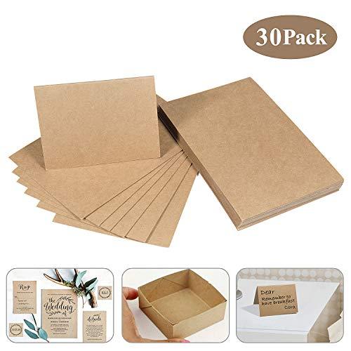 MOOKLIN Papel de estraza cartón de Kraft, 30 Hojas de cartulina 15 x 9.8cm Natural cartón Manualidades y selbstgestalten