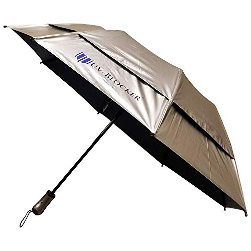 Travel Umbrella for Ultimate Sun Protection – Sun Umbrella Blocks 99% of UVA and UVB Rays for Outdoor Shade on the Go – Cooling and Venting Beach Umbrella Reduces Temperatures up to 15°F by UV-Blocker