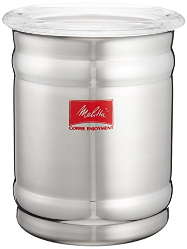 メリタ Melitta コーヒー キャニスター 保存容器 ステンレス製 計量スプーン付き シリコン蓋 密閉 コーヒー 豆 約200g 800ml さくら MJ-2156