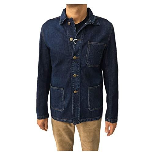 HAIKURE Giacca Jeans Uomo MOD Elias Old Organic Denim HEM09029 DF025 100% Cotone Organico Made in Italy (M-48)