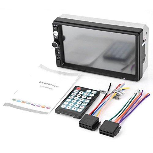 WOVELOT 2 din Autoradio Stereo de Voiture 7010B Lecteur Multimedia 7 Pouces HD MP5 Autoradio Bluetooth USB FM d'affichage numerique a ecran Tactile