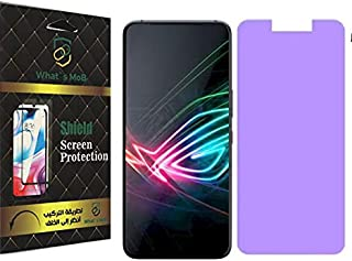 For Asus Rog Phone 3 Glass matte anti finger print Flexible Anti Blue With Nano Technology Anti Shock - Clear by what's mob