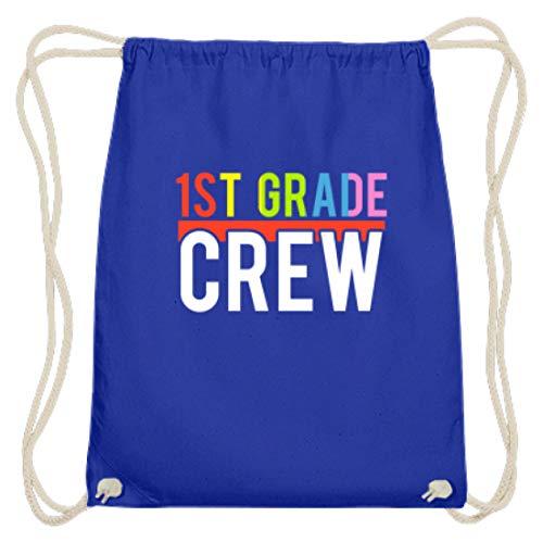 1st Grade Crew - Schüler, Schülerin, Student, Studentin, Lehrer, Bruder, Schwester, Freund - Baumwoll Gymsac -37cm-46cm-Royales Blau
