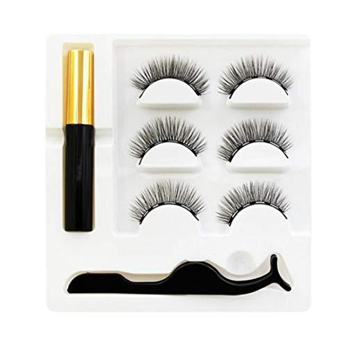Magnetische wimpers natuurlijke magnetische vloeibare eyeliner + drie paren vijf magneet set wimpers