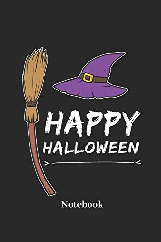 Happy Halloween Notebook: Liniertes Notizbuch für Hexen, Grusel und Halloween Fans - Notizheft Klatte für Männer, Frauen und Kinder