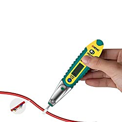 Multifunctional Voltage Tester, Kecheer New AC/DC 12-250V LCD Digital Display Voltage Testing Pen Voltage Tester Electric Screwdriver Pen Pocket Voltage Detector Pen with LED Auxiliary Lighting