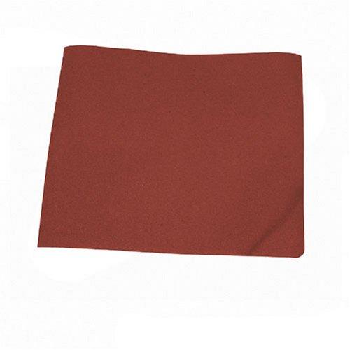 Silverline 969749 - Hojas de lija con revestimiento de tela, 10 pzas (Grano 80)