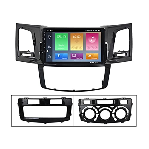 ADMLZQQ para Toyota Fortuner Hilux Revo Vigo 2004-2014 Android 9.0 Radio De Coche GPS Navegación De 9 Pulgadas, FM/Bluetooth/Controles del Volante/Cámara De Visión Trasera,WiFi: 1+16g