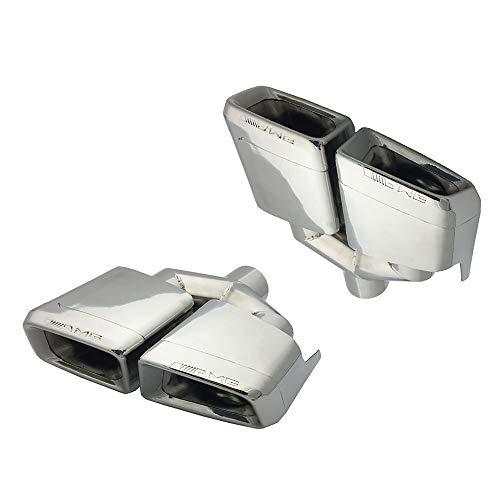 Super-ZS Vierkant-modifizierter Auspuff-Heckhals des Schalldämpfers aus rostfreiem Stahl (geeignet für Mercedes-Benz Klasse W204 / C/Klasse W212 / E/AMG / C63 / E63)