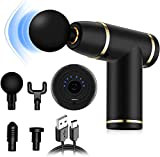 Massage Gun Deep Tissue Percussion Body Massager for Muscles Handheld Therapy and Relaxation, Powerful Quiet Cordless Handheld for Athletes Relieving Pain Relief,Lightweight, Portable,8 Speeds 4 Heads