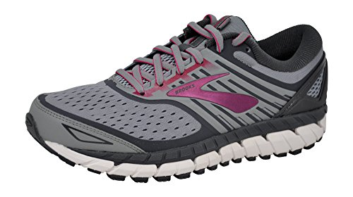Brooks Womens Ariel '18 - Grey/Grey/Pink - 10.0-2E X-Wide