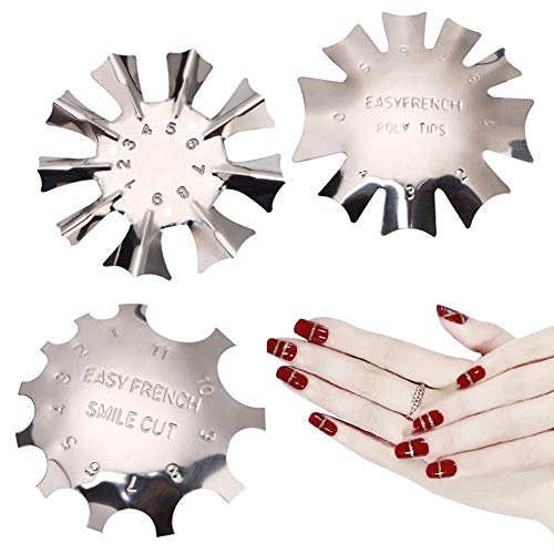 3 Stücke Acryl Trimmer Edge Trimmer French Smile Line Rand Trimmer Nagel Nail Art Cutter für Französisch für Acryl UV Polyacryl Gel Modellage