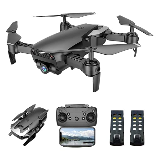 VOLANTEXRC FPV WiFi Remote Control Drone Q1 Foldable 1080P HD/APP Control/Altitude Hold/3D Flips/Headless Mode/3 Speeds Mode/One-Key Take-Off & Landing/One Key Return with 2 Batteries