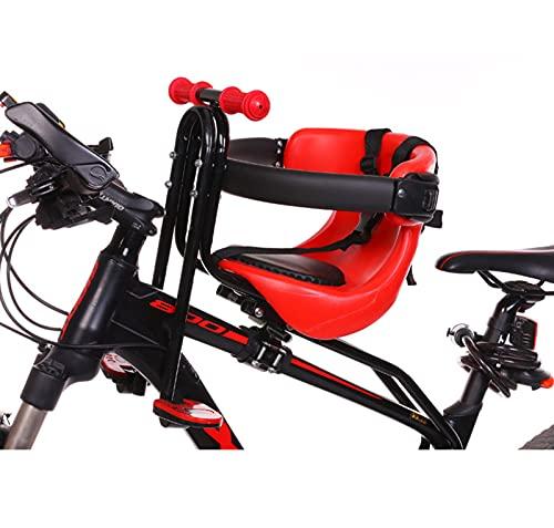 Seggiolino Per Bici Per Bambini Con Montaggio Anteriore Seggiolino Per Bici Per Bambini Staccabile Con Cintura Di Sicurezza, Pedali E Guardrail,...