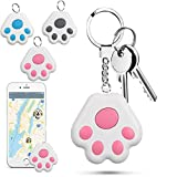 3 PCS New Mini GPS Tracking Locator, Small Portable Bluetooth Intelligent Anti-Lost Device for Luggages/Kid/Pet/Cat/Dog, Dog Paw Design Waterproof Bluetooth Alarms Device