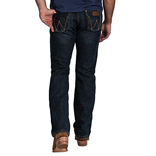 WRANGLER GREENSBORO Jeans Straight w31 l32 Uomo Denim Stretch Blue Used Pantaloni