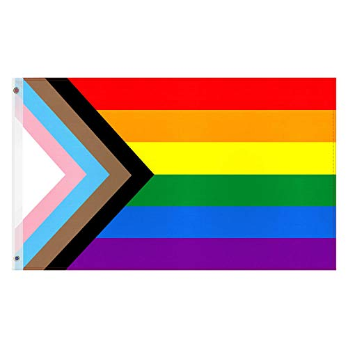 Esportic Regenbogen Flagge, LGBT Regenbogen Gay Flagge, LGBT Pride Fahne Flagge Wetterfest, Rainbow Pride Flag Lesbian Gay Parade Home Dekoration, 150x90cm