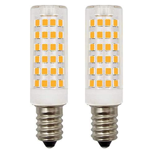 E14 LED Dunstabzugshaubenlampe Warmweiß 3000 K 4,5 W 40 W 45 W 50 W Halogen Leuchtmittel kleine Schraubfassung SES Kerzenlampen 220 V-240 V dimmbar 2 Stück