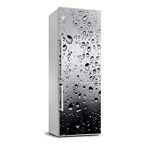 Tulup Adesivo Frigo 70x190cm Stickers Copri Frigorifero Porta Cucina - Gocce D'acqua