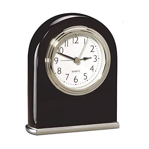 Reloj de mesa clásico de madera desconocido, para escritorio, con diseño de arco de puerta, estilo retro, de cuarzo, para escritorio, color rojo