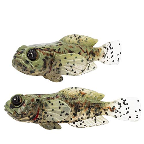 FISHN Fischer Gobyone Set of 5 - 2.9 in - 0.31 oz - Ultra Realistic Rubber Fish for Fishing for Perch and Pikeperch, Musky and Trout (Camouflage)