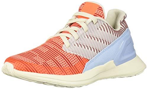 adidas RapidaRun Knit El tenis para correr para niños,  Blanco (Off White/Hi- res Coral/Active Maroon),  29 EU