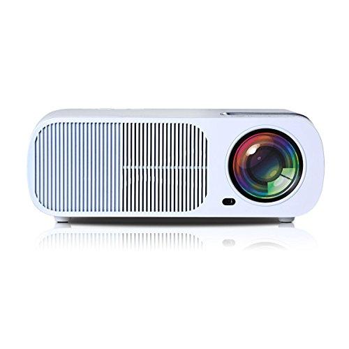 UHAPPY Mini LED Beamer 20.000 Stunden Lampenlebensdauer 1080P 2600 lumen
