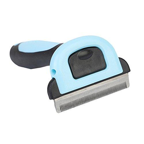 Baoblaze Rasoir Tondeuse de Cheveux Chien Peigne en Plastique/Acier INOX - Bleu, L
